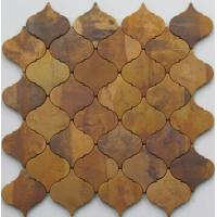 Quality Modern Small Bronze Metallic Mosaic Tiles For Interior Projects 8mm Thick for sale