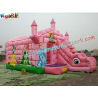 Quality Commercial Durable Inflatable Bouncer Slide , Princess Bounce House With Slide Games for sale
