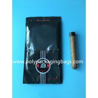 Quality Custom classic black cigar bag general zipper plastic moisturizing bag with 4-6 cigars for sale