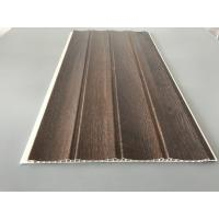 Buy 25cm × 8mm Four Arcs PVC Wooden Plastic Laminate Panels Customized Length at wholesale prices