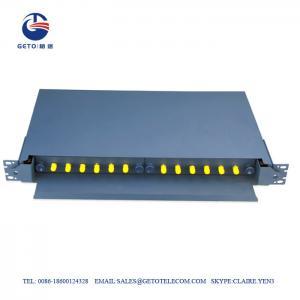 Quality Empty Box 12 Port Fc St Fiber Optic Patch Panel Rack Mount for sale