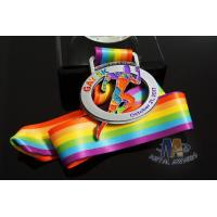 Quality M -23 Cut Out Design By Clients Custom Sports Medals With Sublimated Ribbon for sale