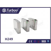 Quality Waist Height Flap Barrier Turnstile / Pedestrian Turnstile Gate Access Control for sale