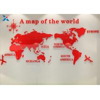 Quality Office Creative Acrylic Shapes Craft / 3D Acrylic Stereo World Map Wall Sticker for sale
