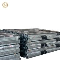 Quality Low Voltage Tubular Galvanized Steel Pole 11m Length Black Painting Color for sale