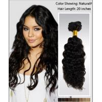 Buy Elegant 25 Inch / 26 Inch Curly Human Hair Wigs / brazilian curly hair extensions at wholesale prices
