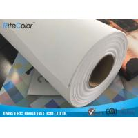 Quality Wide Format Digital Inkjet Cotton Canvas 320gsm / Printable Canvas Roll for sale