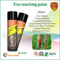 Quality Fast Drying Colorful Marking Spray Paint For Log / Plywood / Railroad Ties for sale
