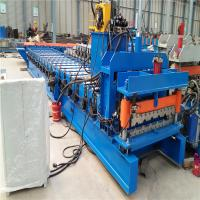 Buy cheap Auto control control system glazed metal roof tile manufacturing forming machine from wholesalers