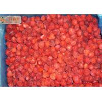 Quality Red Pure Organic Frozen Strawberries Fruit With 20%-30% Nature Floret for sale