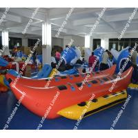 Quality PVC Orange Inflatable Water Game Banana Boat Fire Resistance for sale