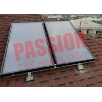 Quality Laser Welding Solar Thermal Flat Plate Collectors With Black Chrome Coating Absorber for sale