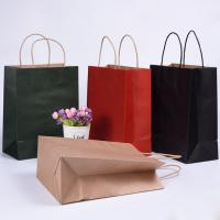 Buy cheap Folding Brown Paper Shopping Bags With Strong Heat Resistant Glue Reinforce from wholesalers