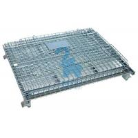 Buy Heavy Duty Collapsible Wire Mesh Storage Cages For Metal Tools at wholesale prices