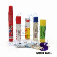 Buy Super Clear Wrap Around Water Bottle Labels PET Plastic Film for Sporty 5 Colors at wholesale prices