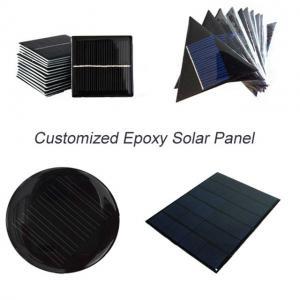 Quality Custom Made Small Solar Panel , Epoxy Resin Solar Panel For Led Garden Light Battery for sale