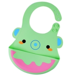 Quality Lightweight Skip Hop Bib Silicone , Baby Food Catcher Bib Dishwasher Safe for sale