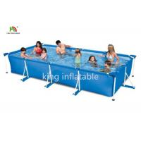 Quality Gaint Family Stainless Steel Frame Inflatable Swimming Pools Backyard Fun for sale