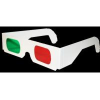 Quality Customizable Plastic frame AC with UV 400 protection lens red green 3D glasses with logo for sale