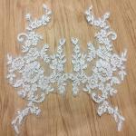 Quality Ivory Venise Cord Lace Applique for Bridal Gown Wedding Dress decoration for sale