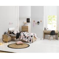 Quality Apartment Furniture Space Saving Bedroom Modern Design of Single Bed with Nightstand in Fashion interior Desk for sale
