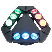 Quality DMX RGBW 4in1 LED Beam Lights , 3*3 10W 9 Heads Moving Spider Beam DJ Bar Lighting for sale