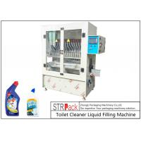 Quality High Accuracy Automatic Liquid Filling Machine Vertical High Tech Filler For Bleach / Acid for sale