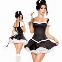 Quality Flirty Fifi Costume, Includes Corset, Skirt, Headpiece and Petticoat, with Size from XS to 4XL for sale