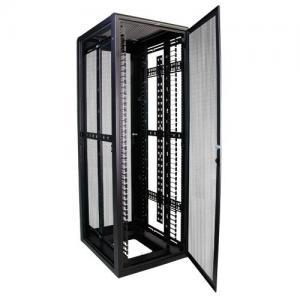 China 37RMU Full Server Rack , Field Reversible Door Hinges Locking Server Cabinet on sale