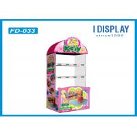 Quality Toys Corrugated Cardboard Floor Displays Stands For Trade Shows for sale