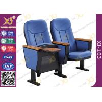 Quality 560mm Center Distance Fabric Cushion Commercial Theater Seating Chairs For Meeting Room​ for sale