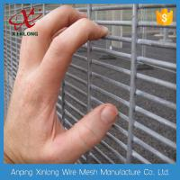 Quality Dark Green 358 Welded Wire Mesh Panels , Iron Wire Garden Fencing for sale