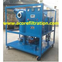 Quality Mobile Trailer Vacuum Transformer Oil Purification Dehydration Machine for sale