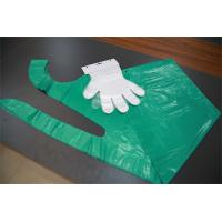 Quality Flat Pack Disposable Plastic Gloves For Kitchen Food Processing / Medical Use for sale