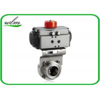Quality Aluminium Actuator Pneumatic Butterfly Valve , Male / Female Threaded Butterfly Valves for sale