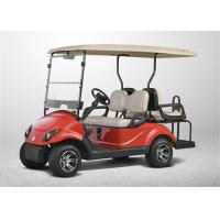 Red Color 48V 4 Seater Electric Golf Cart , Road Legal Golf Buggy SGS & TUV Certificate