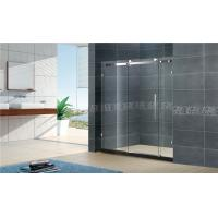 China 1400x2000MM Big Roller Glass Shower Screen 8MM Two Fixed For Apartment on sale
