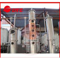 Quality Micro Red Copper Wine / Vodka Distillery Equipment Commercial Customized for sale