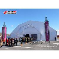 Quality 900 People Clear Roof Party Tent , Industrial Storage Tents Polyester Textile Cover for sale