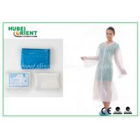 Buy Waterproof Disposable Lab Coats , Transparent Plastic PE disposable visitor coats at wholesale prices