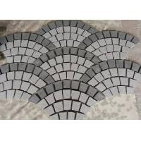 Quality Fan Shape Decorative Landscaping Stone Granite Paving Stones With Net On The Back for sale