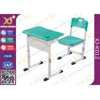 Quality Classroom Single Modern School Desk And Chair With Aluminum Alloy Frame for sale