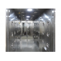 Quality Automatic Induction 30m/Sec Cleanroom Air Shower Stainless Steel for sale