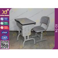 Quality Pre - Assembled Metal Kids School Desk And Chair Set With Electrostatic Powder Coating for sale