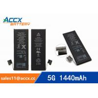 Quality ACCX brand new high quality li-polymer internal mobile phone battery for IPhone 5G with high capacity of 1440mAh 3.7V for sale