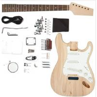 Quality Fender ST Style Solid Mahogany DIY Electric Guitar Kits Single Coil Guitar AG-ST2 for sale