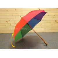 Quality 23 Inch 8 Panels Unique Rain Umbrellas Large Rainbow Umbrella With Special Handle for sale