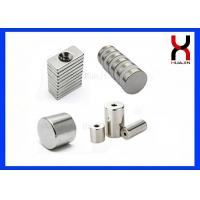 Permanent Industrial Magnetic Bar , Cylinder Shape Neodymium Magnets