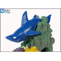 Blue Little Shark Personalised Large Fish Tank Ornaments Decorations with