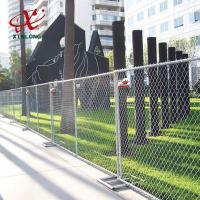 Quality Professional Temporary Chain Link Fence Panels For Sports Field / Construction Site for sale